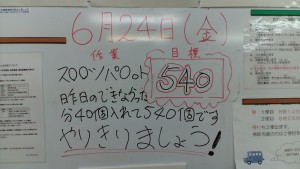 障害福祉サービス明石事業所/ホワイトボード