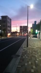 障害福祉サービス明石事業所/夕焼け風景