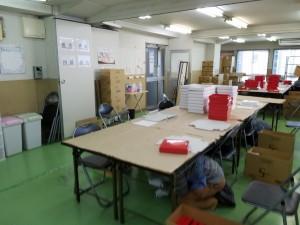 障害福祉サービス明石事業所/シェイクアウト訓練2